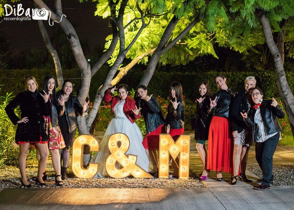 Reportaje fotográfico amigas boda valencia
