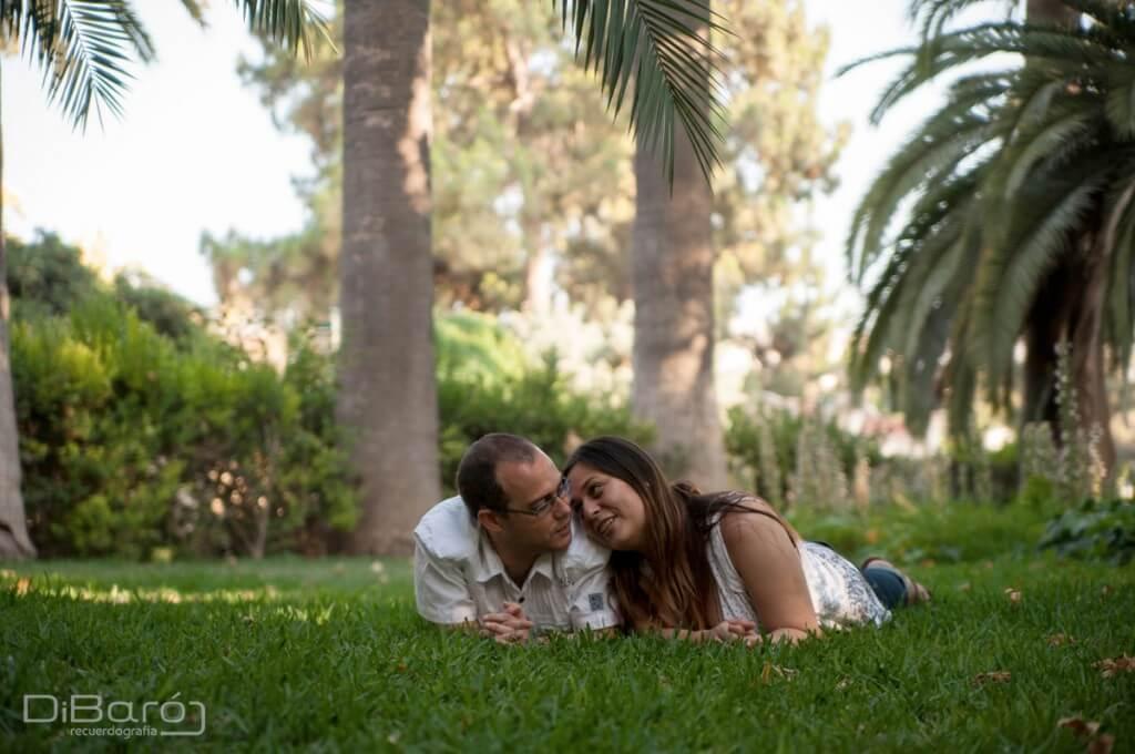 Roberto y Anavanessa en los jardines de monforte