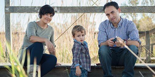 Víctor, Leti y Gerard en la playa del Saler
