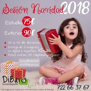 cartel oferta sesión fotos navidad 2018