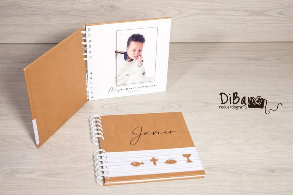 diseño personalizado de libro de firmas para comuniones