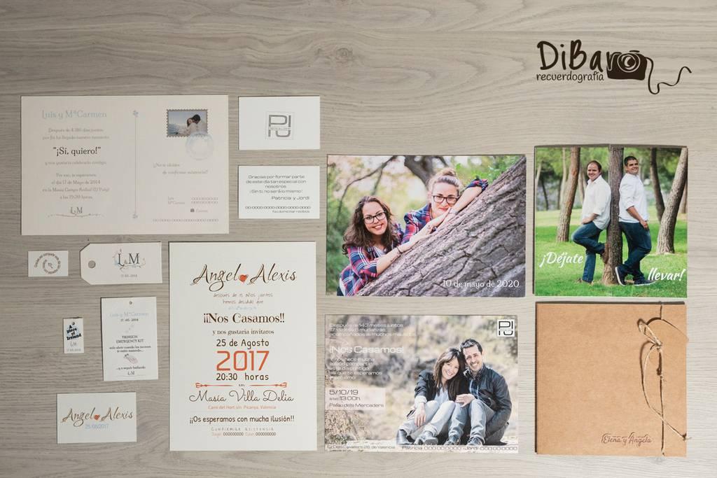 Tarjetones personalizados para boda